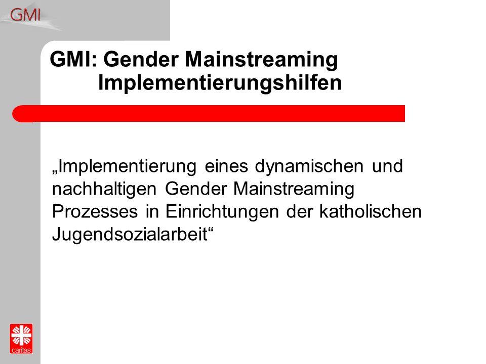 GMI: Gender Mainstreaming Implementierungshilfen Implementierung eines dynamischen und nachhaltigen Gender Mainstreaming Prozesses in Einrichtungen de
