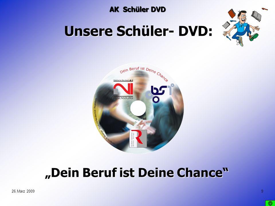 26.März 200910 Kernstück der DVD: ca.