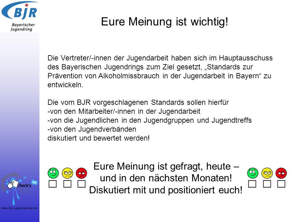 www.bjr-jugendschutz.de Eure Meinung ist wichtig! Die Vertreter/-innen der Jugendarbeit haben sich im Hauptausschuss des Bayerischen Jugendrings zum Z