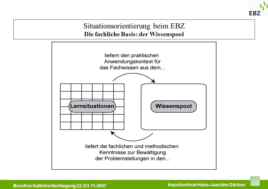 BFW Immobilienkongress 11.05.2007 Berufsschullehrerfachtagung 22./23.11.2007 Impulsreferat Hans-Joachim Gärtner Situationsorientierung beim EBZ Die fa