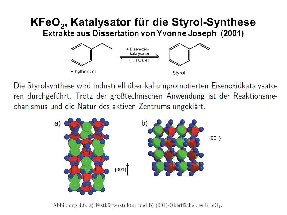 KFeO 2, Katalysator für die Styrol-Synthese Extrakte aus Dissertation von Yvonne Joseph (2001)