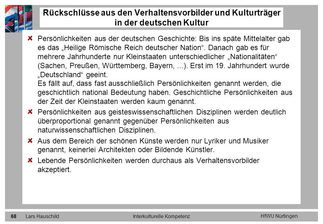 HfWU Nürtingen Lars HauschildInterkulturelle Kompetenz68 Persönlichkeiten aus der deutschen Geschichte: Bis ins späte Mittelalter gab es das Heilige R