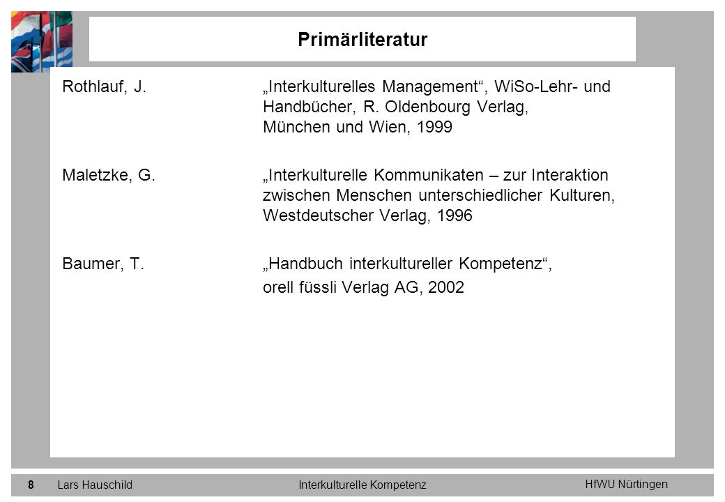 HfWU Nürtingen Lars HauschildInterkulturelle Kompetenz9 Müller, W.
