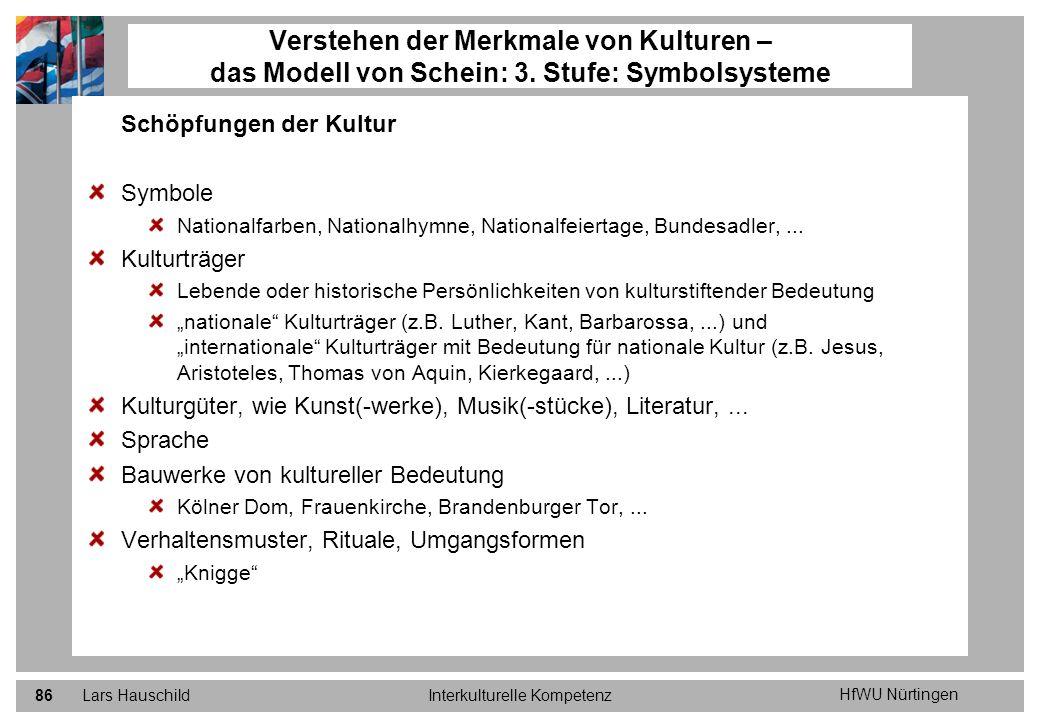 HfWU Nürtingen Lars HauschildInterkulturelle Kompetenz86 Schöpfungen der Kultur Symbole Nationalfarben, Nationalhymne, Nationalfeiertage, Bundesadler,