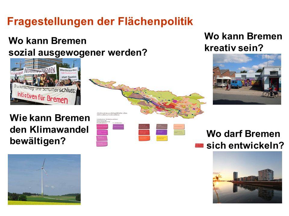 Wo kann Bremen kreativ sein.Wie kann Bremen den Klimawandel bewältigen.