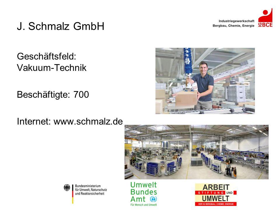 J. Schmalz GmbH Geschäftsfeld: Vakuum-Technik Beschäftigte: 700 Internet: www.schmalz.de