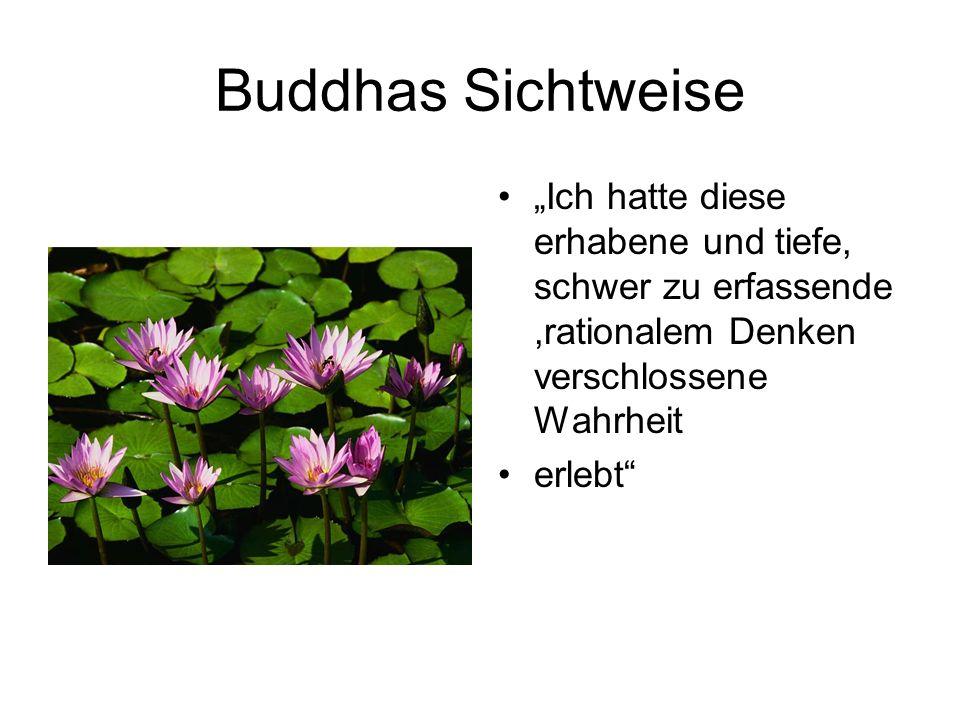 Buddhas Sichtweise Ich hatte diese erhabene und tiefe, schwer zu erfassende,rationalem Denken verschlossene Wahrheit erlebt