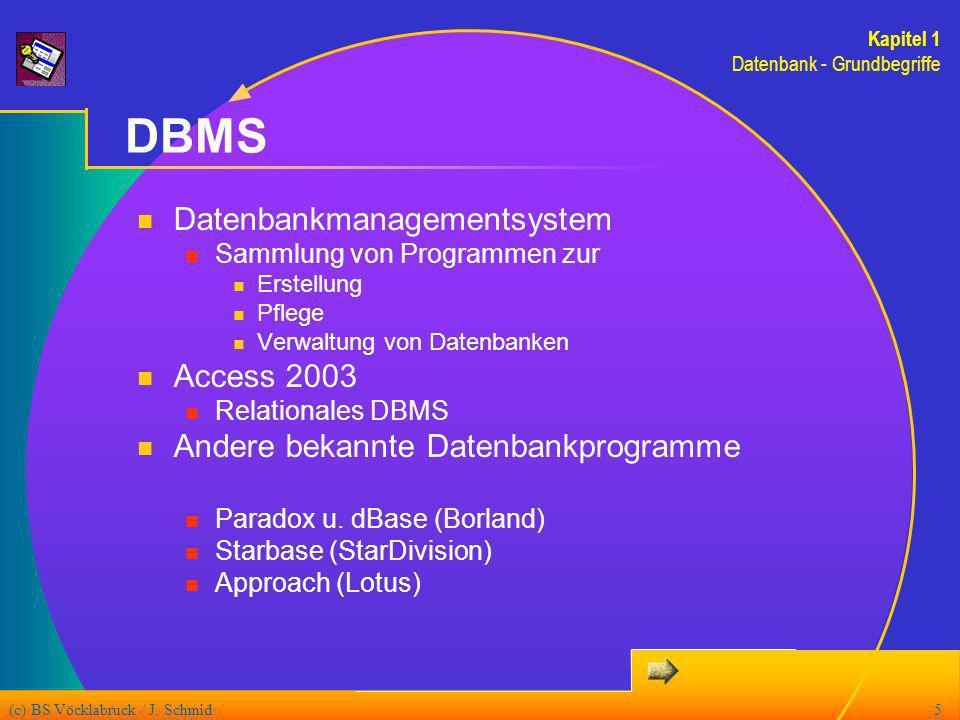 (c) BS Vöcklabruck / J.Schmid26 Berichte (1) Ausdruck von Daten einer oder mehrerer Tabellen bzw.