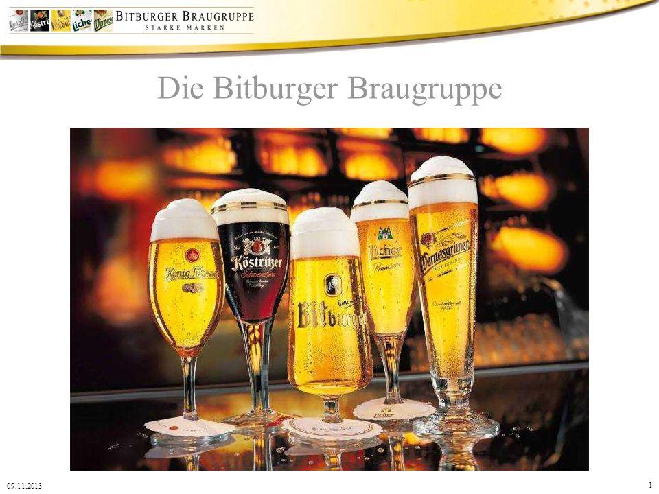1 09.11.2013 Die Bitburger Braugruppe
