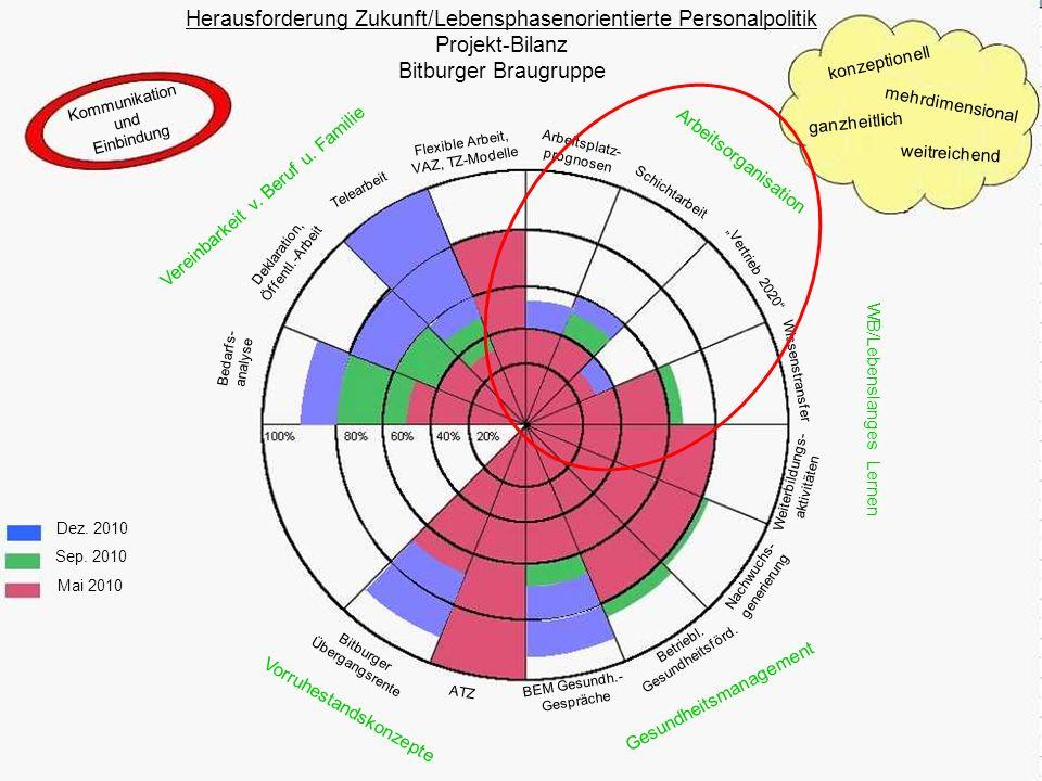 Kommunikation und Einbindung Herausforderung Zukunft/Lebensphasenorientierte Personalpolitik Projekt-Bilanz Bitburger Braugruppe konzeptionell mehrdim