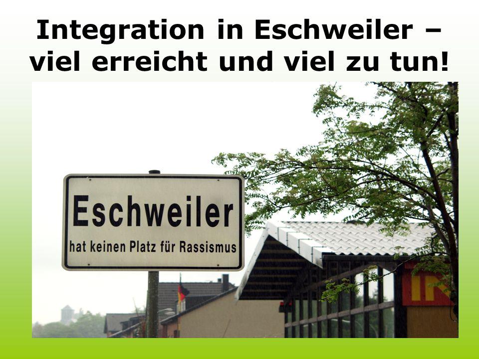 Integration in Eschweiler – viel erreicht und viel zu tun!