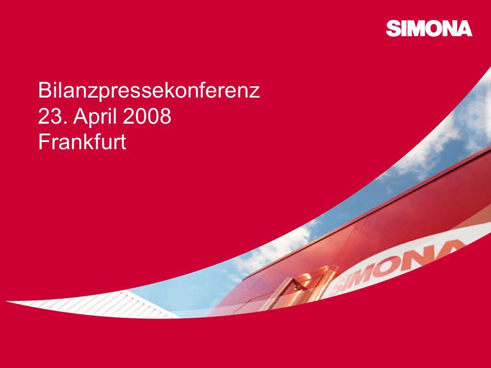 Bilanzpressekonferenz 23. April 2008 Frankfurt