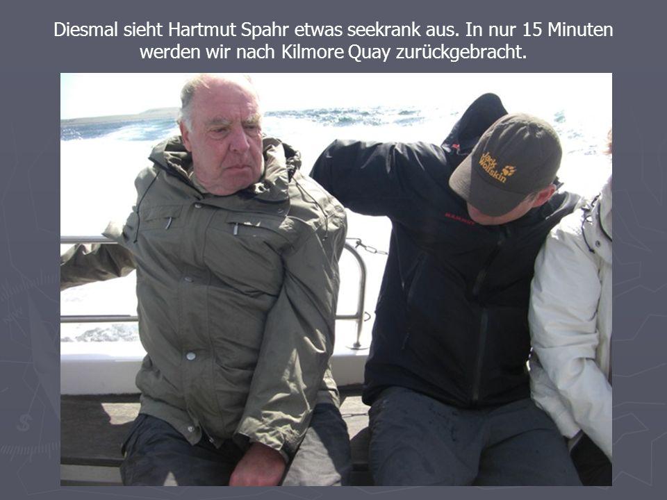Diesmal sieht Hartmut Spahr etwas seekrank aus.