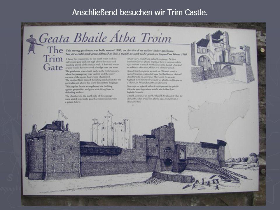 Anschließend besuchen wir Trim Castle.