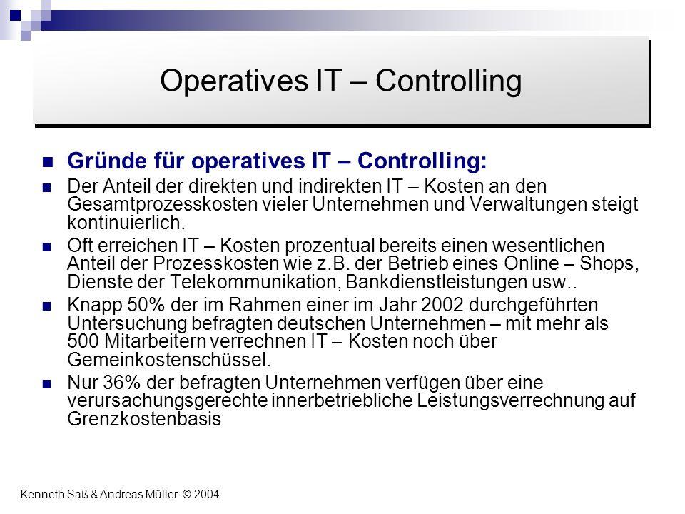 Gründe für operatives IT – Controlling: Der Anteil der direkten und indirekten IT – Kosten an den Gesamtprozesskosten vieler Unternehmen und Verwaltun