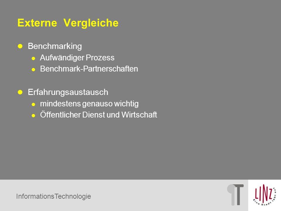 InformationsTechnologie Externe Vergleiche Benchmarking Aufwändiger Prozess Benchmark-Partnerschaften Erfahrungsaustausch mindestens genauso wichtig Ö