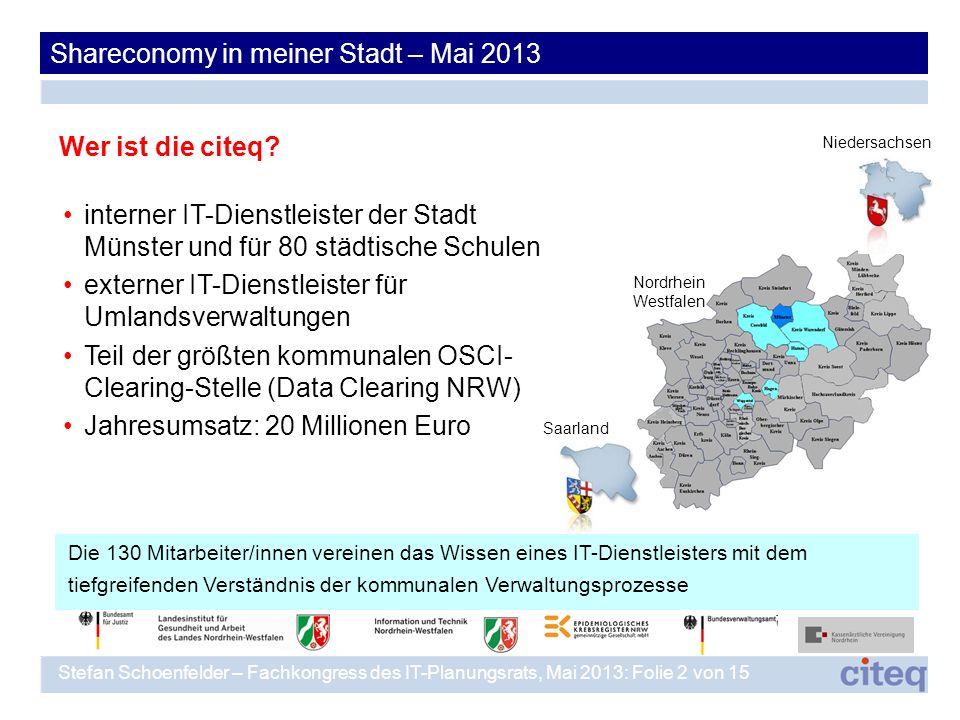interner IT-Dienstleister der Stadt Münster und für 80 städtische Schulen externer IT-Dienstleister für Umlandsverwaltungen Teil der größten kommunale