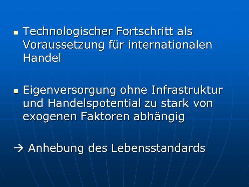 Technologischer Fortschritt als Voraussetzung für internationalen Handel Technologischer Fortschritt als Voraussetzung für internationalen Handel Eige