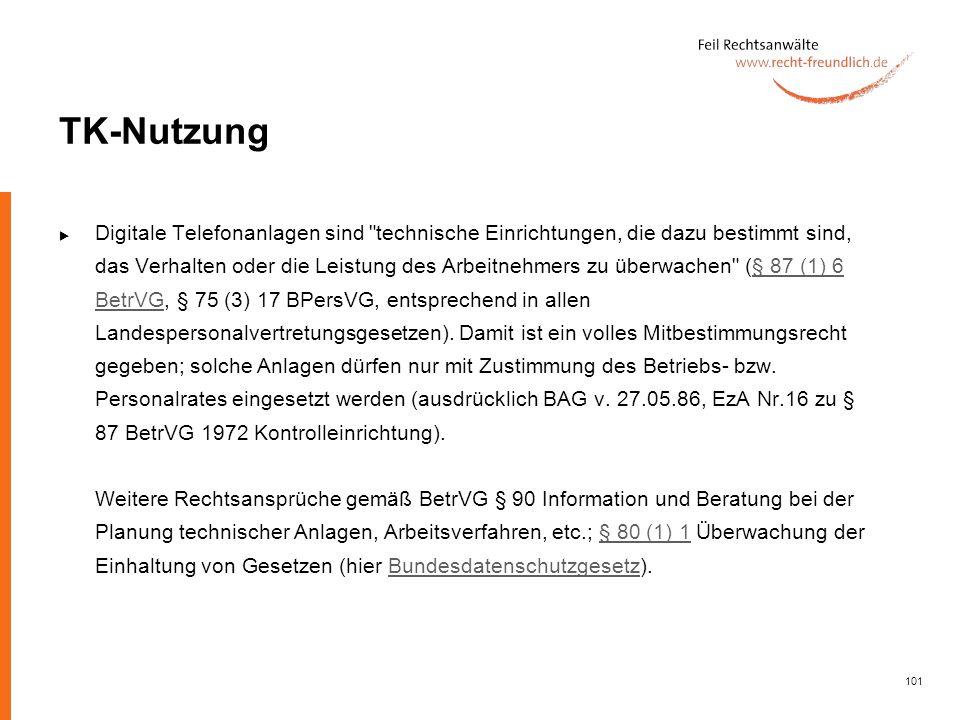 101 TK-Nutzung Digitale Telefonanlagen sind