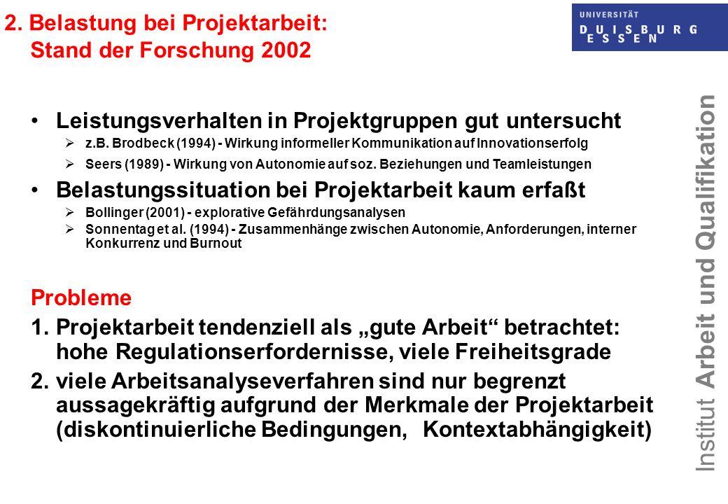 Institut Arbeit und Qualifikation 6.4 Ergebnisse der Beanspruchungsanalyse: Regenerations- möglichkeiten, psycho-physiologische Erschöpfung