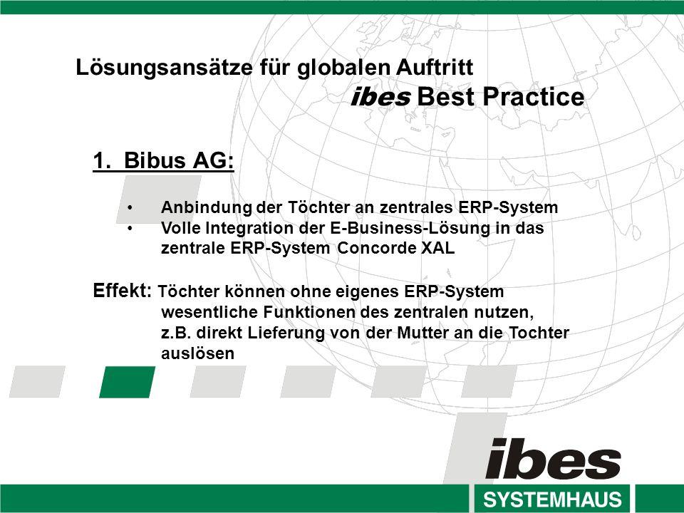 Lösungsansätze für globalen Auftritt ibes Best Practice 1.
