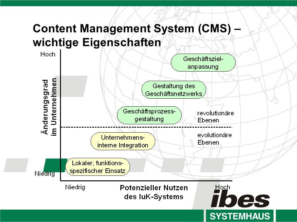 Content Management System (CMS) – wichtige Eigenschaften