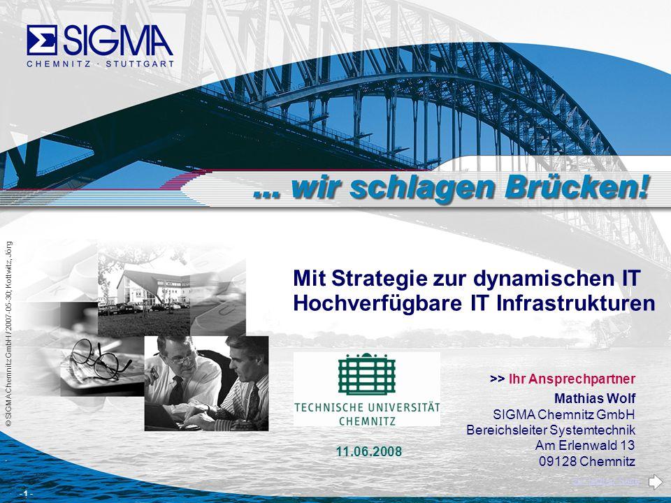 © SIGMA Chemnitz GmbH / 2008-01-30 / Ersteller: Kottwitz, Jörg; Wolf.