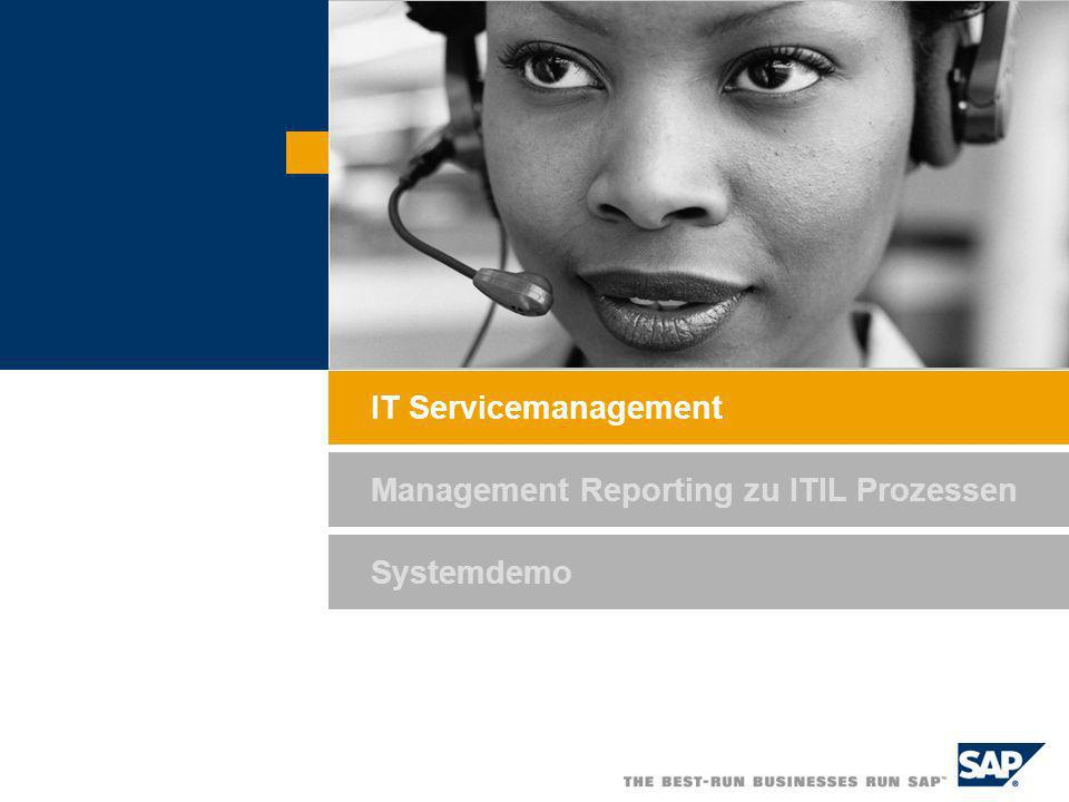 SAP AG 2005, Title of Presentation / Speaker Name / 3 Billing / Controlling / Analytics IT Service and Asset Management Process Overview Request Services Provide Services Provide Solution Request Changes Deliver Services Service Level Management (Service Definition and Monitoring) Report Incidents and Problems Provide Changes Department/ Customer IT Service Desk IT Service Engineer Configuration Database Materials Manager Provide Material Request Material