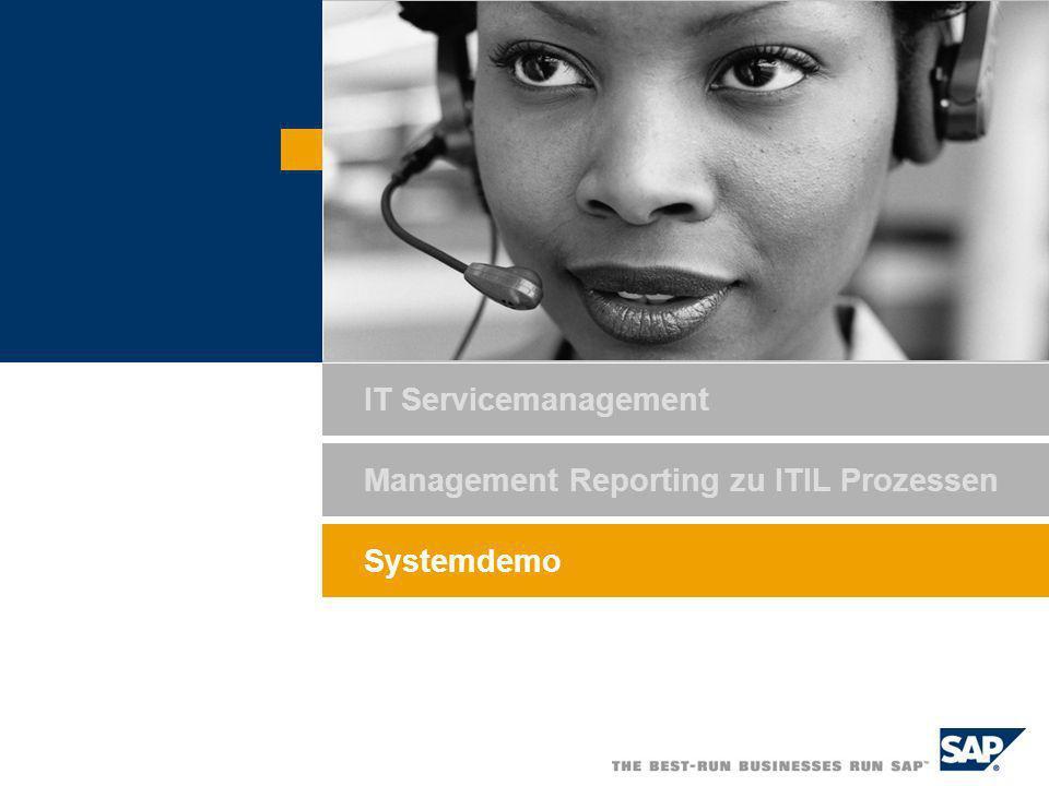 Systemdemo IT Servicemanagement Management Reporting zu ITIL Prozessen