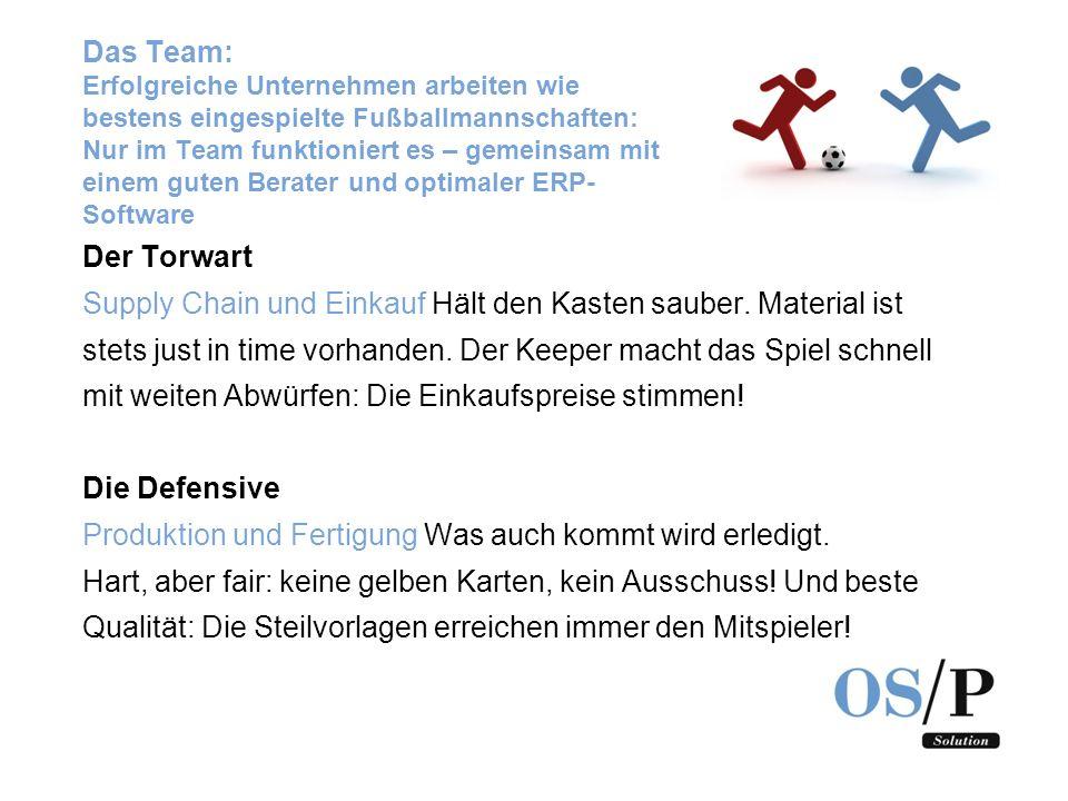 Das Team: Erfolgreiche Unternehmen arbeiten wie bestens eingespielte Fußballmannschaften: Nur im Team funktioniert es – gemeinsam mit einem guten Bera