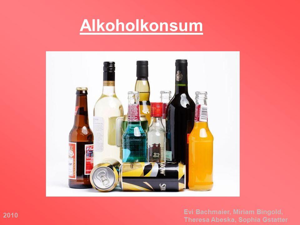 2010 Evi Bachmaier, Miriam Bingold, Theresa Abeska, Sophia Gstatter Alkoholkonsum
