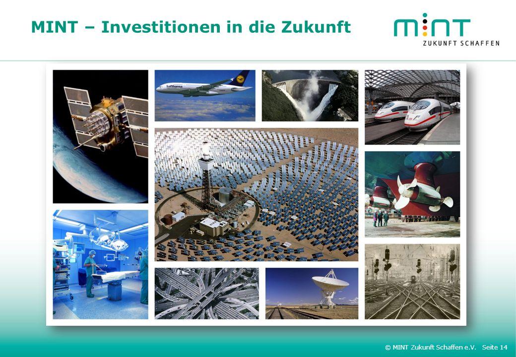 © MINT Zukunft Schaffen e.V. Seite 14 MINT – Investitionen in die Zukunft