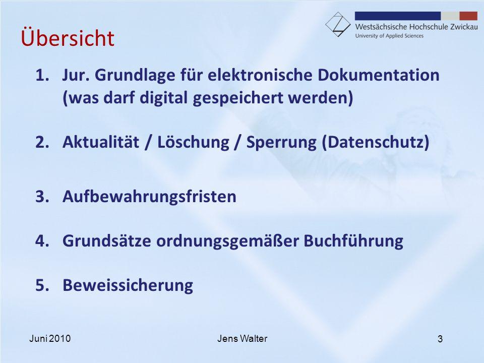3 Übersicht 1.Jur. Grundlage für elektronische Dokumentation (was darf digital gespeichert werden) 2.Aktualität / Löschung / Sperrung (Datenschutz) 3.