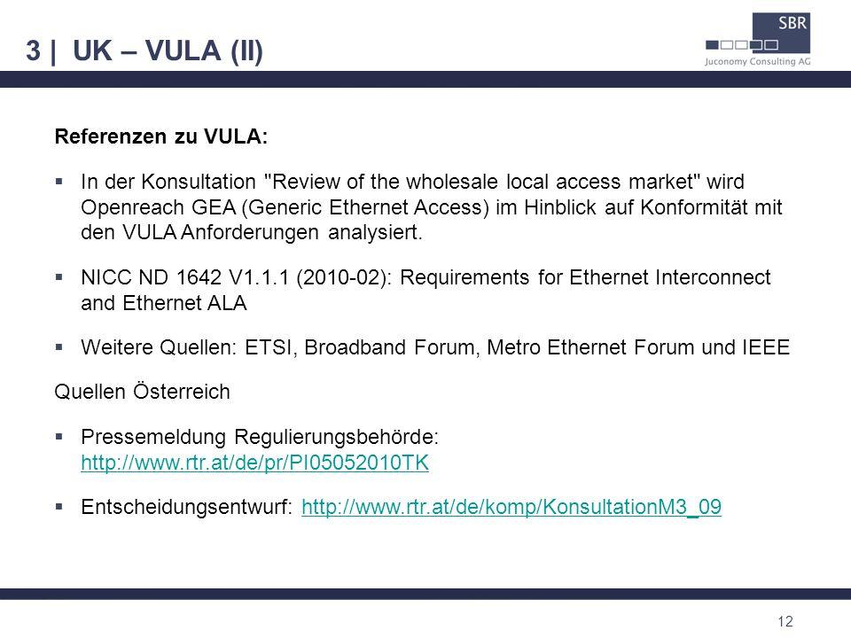 3 | UK – VULA (II) 12 Referenzen zu VULA: In der Konsultation