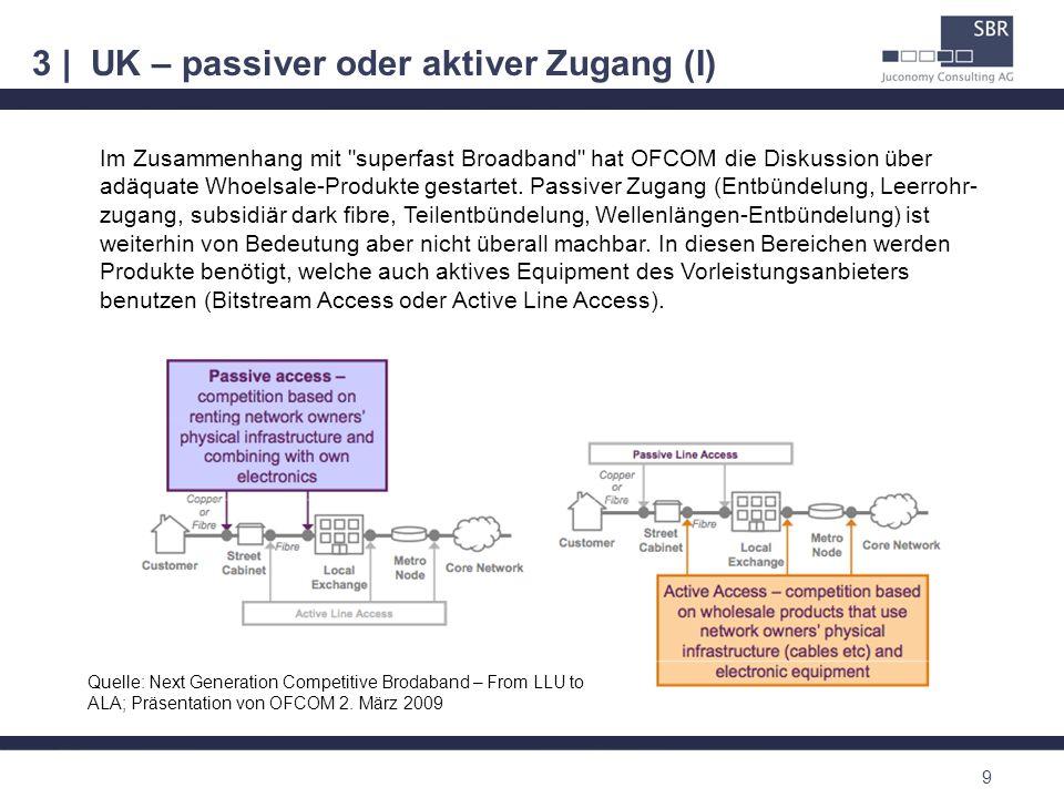 3 | UK – passiver oder aktiver Zugang (I) 9 Im Zusammenhang mit