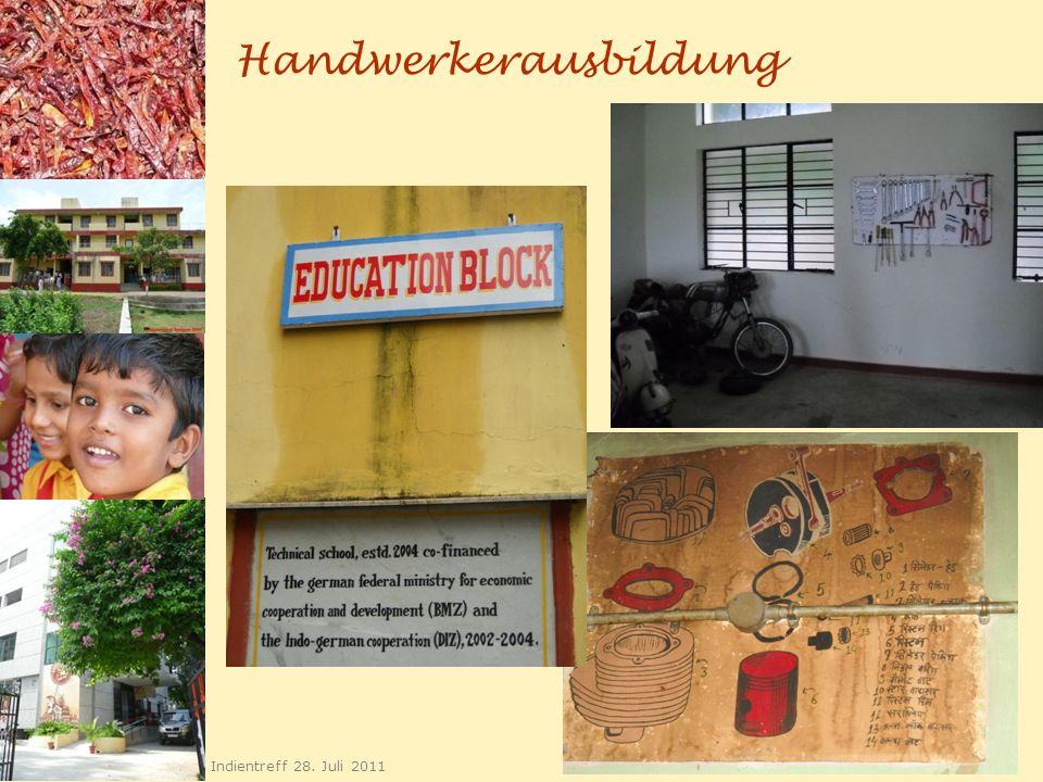 Handwerkerausbildung 22 Indientreff 28. Juli 2011