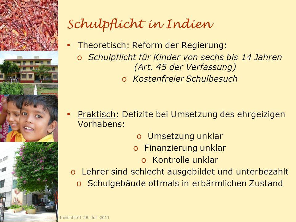Kindergärten 20 Indientreff 28. Juli 2011