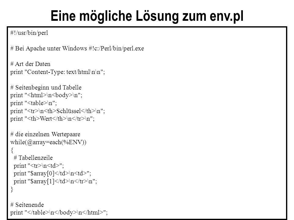 #!/usr/bin/perl # Bei Apache unter Windows #!c:/Perl/bin/perl.exe # Art der Daten print