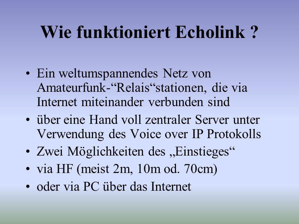 Wie funktioniert Echolink .