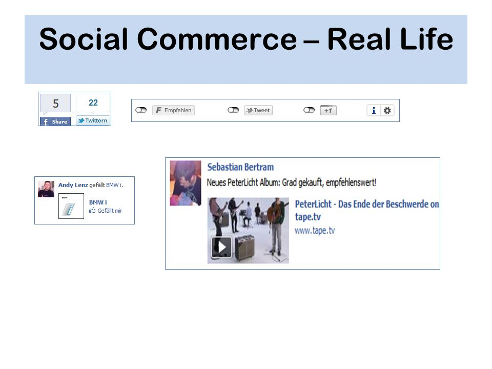 Social Commerce – Real Life