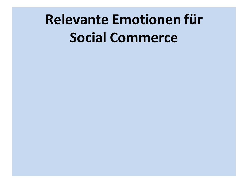 Relevante Emotionen für Social Commerce