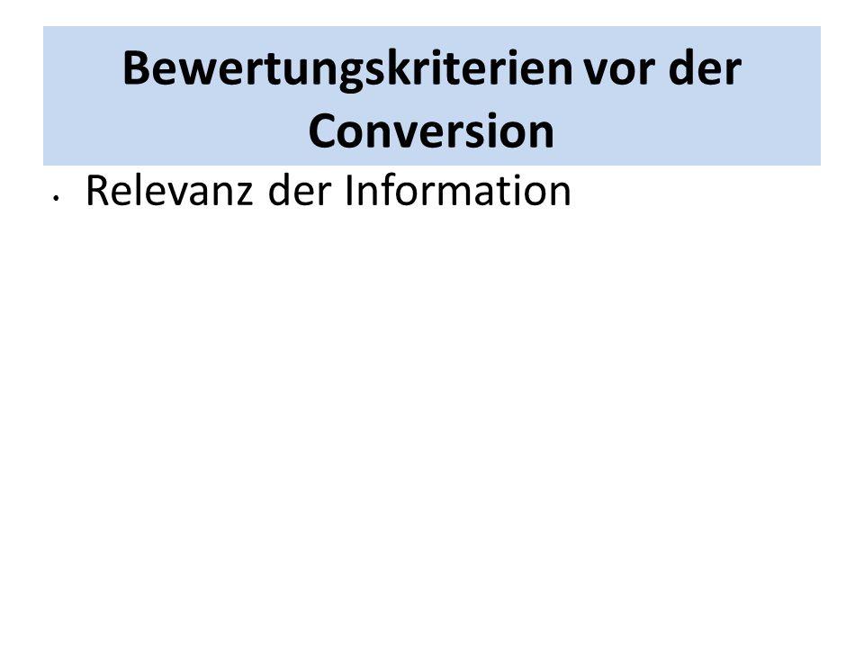 Relevanz der Information