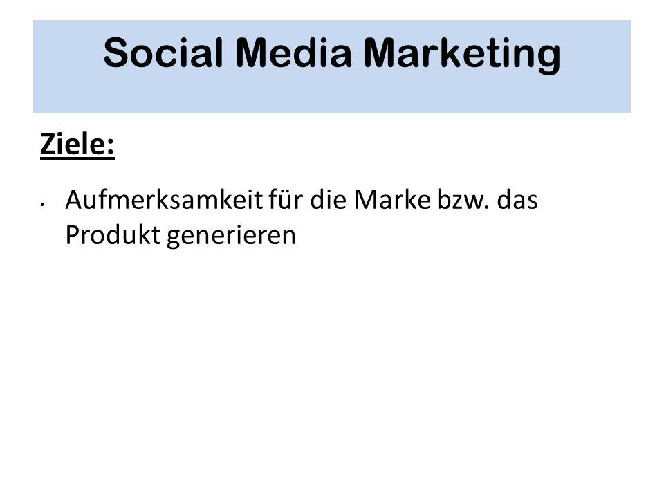 Social Media Marketing Ziele: Aufmerksamkeit für die Marke bzw. das Produkt generieren