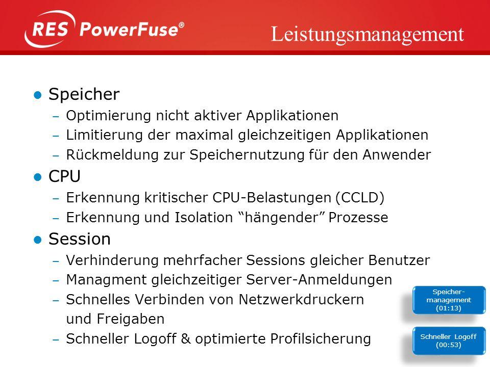 Sicherheitsmanagement Nicht autorisierte Anwendungen/Prozesse nicht autorisierte Dateitypen & Speicherorte Read-Only Schutzsystem Zugriffsverwaltung f