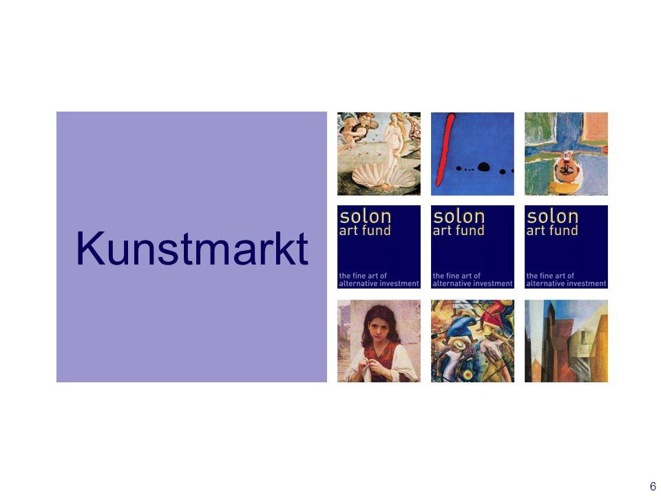 7 Der Kunstmarkt im Überblick Marktvolumen etwa 70 Mrd.
