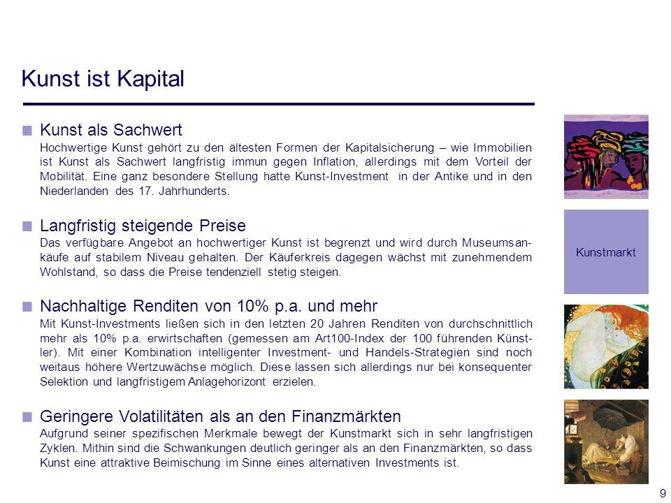 30 Chance/Risiko/Zeit-Profil der Strategien Fonds- Konzept Zeithorizont (Kapitalbindung) Rendite Risiko Heri- tage Liqui- dation Buy & Hold Arbi- trage Venture Capital Arbi- trage New- comer Arbi- trage