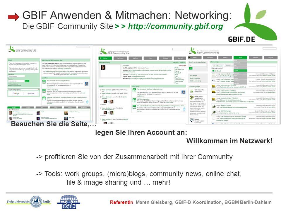 Besuchen Sie die Seite,… legen Sie Ihren Account an: Willkommen im Netzwerk! -> profitieren Sie von der Zusammenarbeit mit Ihrer Community -> Tools: w