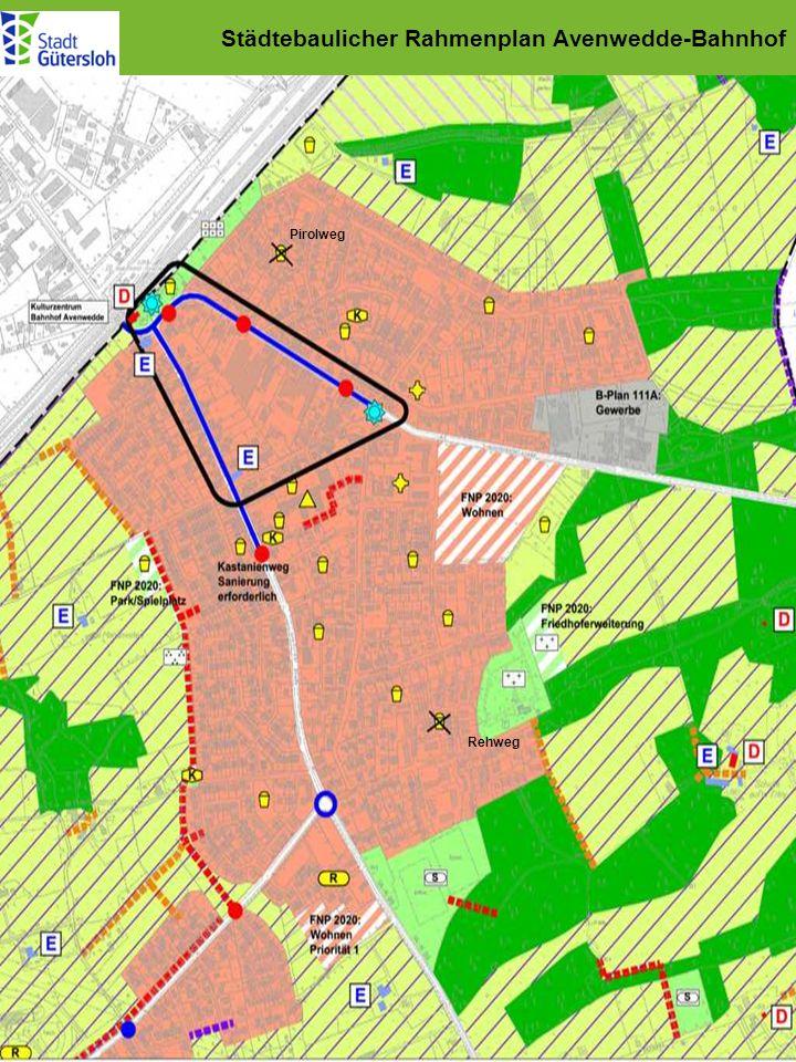 Städtebaulicher Rahmenplan Avenwedde-Bahnhof Pirolweg Rehweg