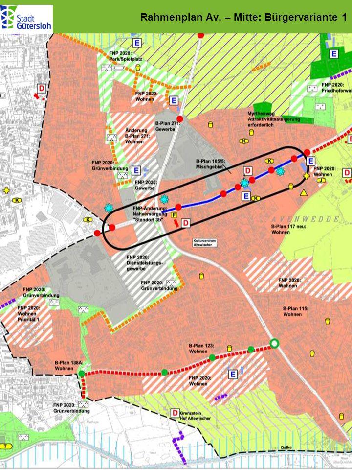 Rahmenplan Av. – Mitte: Bürgervariante 1