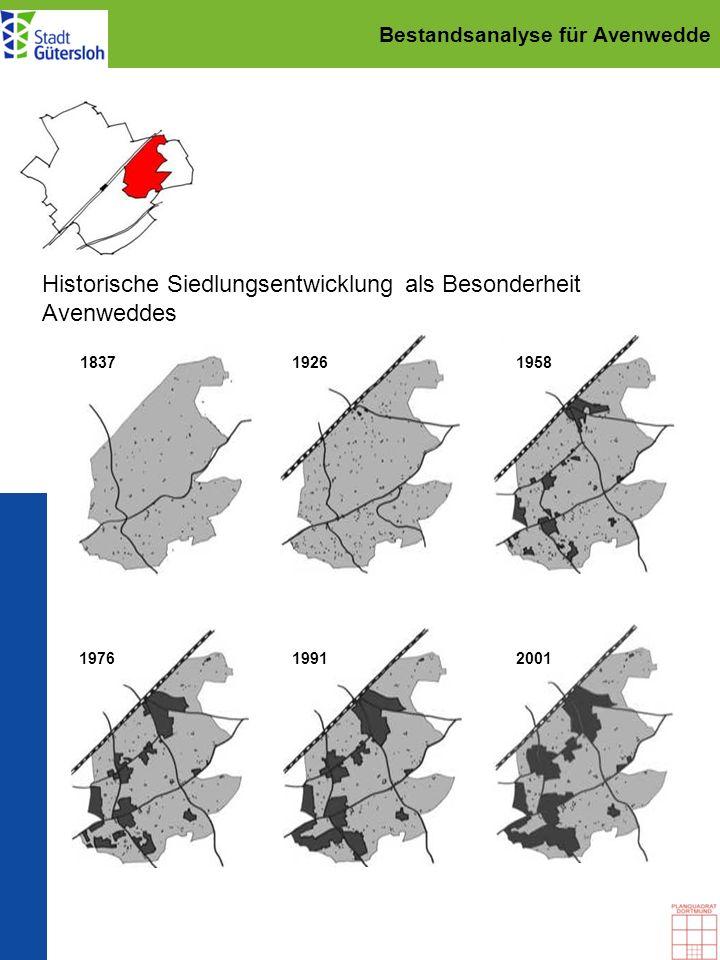 Städtebaulicher Rahmenplan für Avenwedde Grünraumplanung: bestehendes Rad- und Fußwegenetz R 20 W 9 W 12 W 10 Fuhrmannsweg Wappenweg